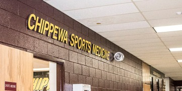 Chippewa Sports Medicine is located in the Rose Center for athletes to receive their treatments.